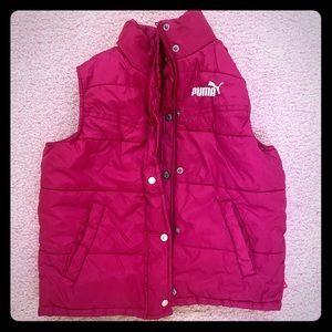 Puma magenta reversible girls 6 vest